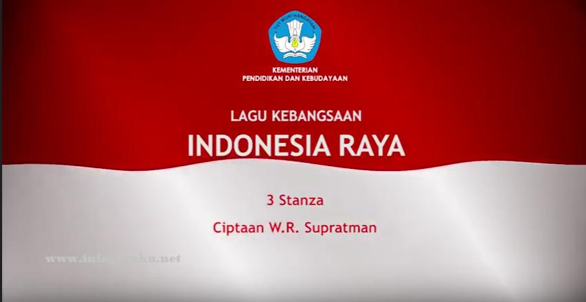 Download Video Lagu Indonesia Raya Tiga Stanza Infoguruku