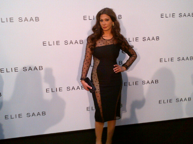 Elissa At the Elie saab's show Elissa Dresses In X Factor
