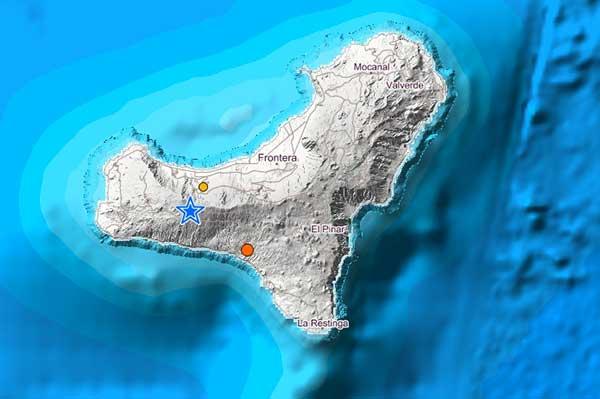 Hasta el momento, se han registrado tres terremotos en la isla de El Hierro, miércoles 13 junio 2018