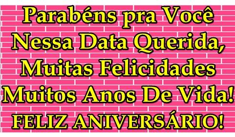 MENSAGEM DE ANIVERSÁRIO 100