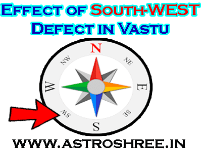 remedies of south west problem in vastu