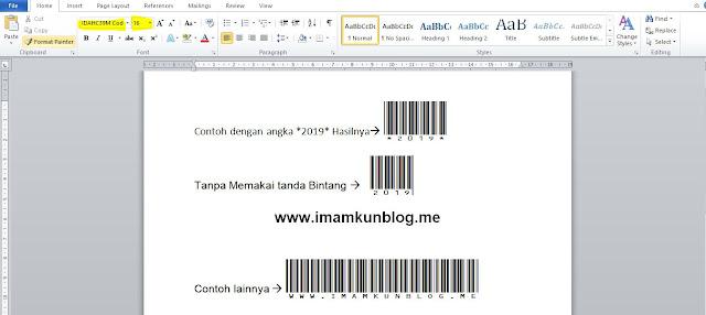 Cara Mmebuat Barcode di Word Dengan Mudah