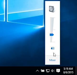 icon menu di windows 10 hilang