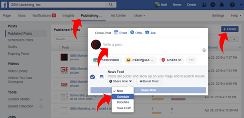 Facebook marketing tips and shortcuts from GBM Marketing