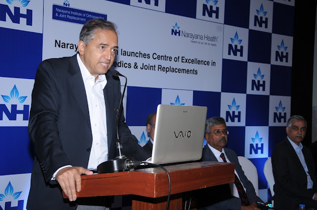 NARAYANA HEALTH AIMS AT ESTABLISHING CENTRE OF EXCELLENCE IN ORTHOPAEDICS AND JOINT REPLACEMENTS