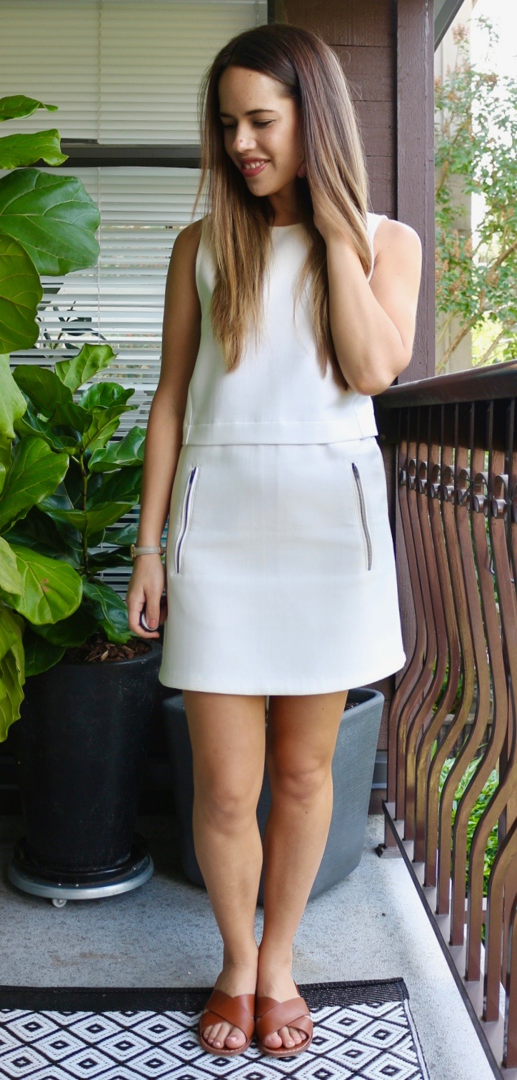 Jules in Flats - White Wilfred Shift Dress
