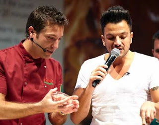 Gino D'Acampo with the singer Peter Andre on one of his shows on UK television