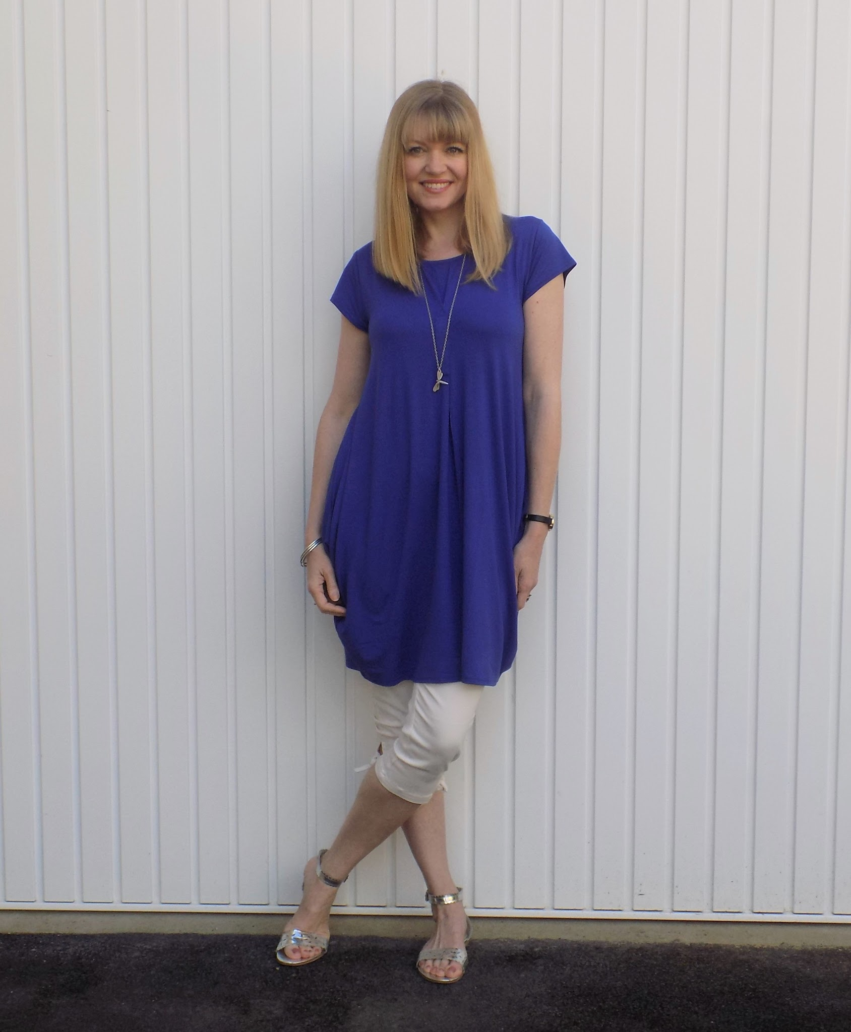 Cobalt blue Masai cocoon dress from Gemini woman