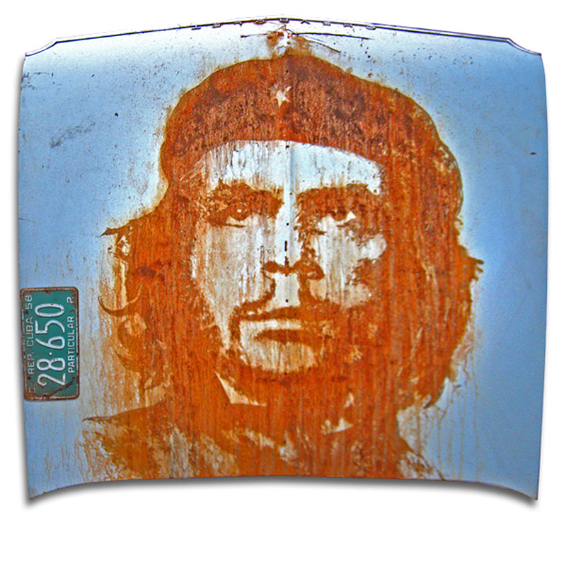 che guevara on car hood