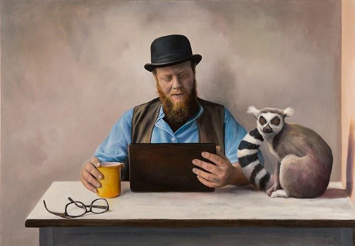 Мои картины - отражение нас самих. Joe Coffey