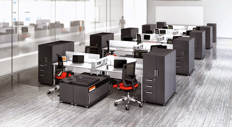 Powered Open Desking Configuration