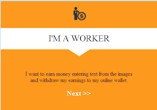 Select I'M A Worker.