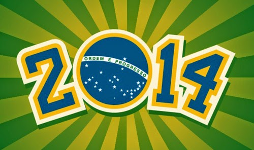 World Cup 2014 Vector Background