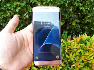 Samsung S7 Edge Seken Pink Gold 4G LTE RAM 4GB Mulus Fullset Eks Garansi Samsung