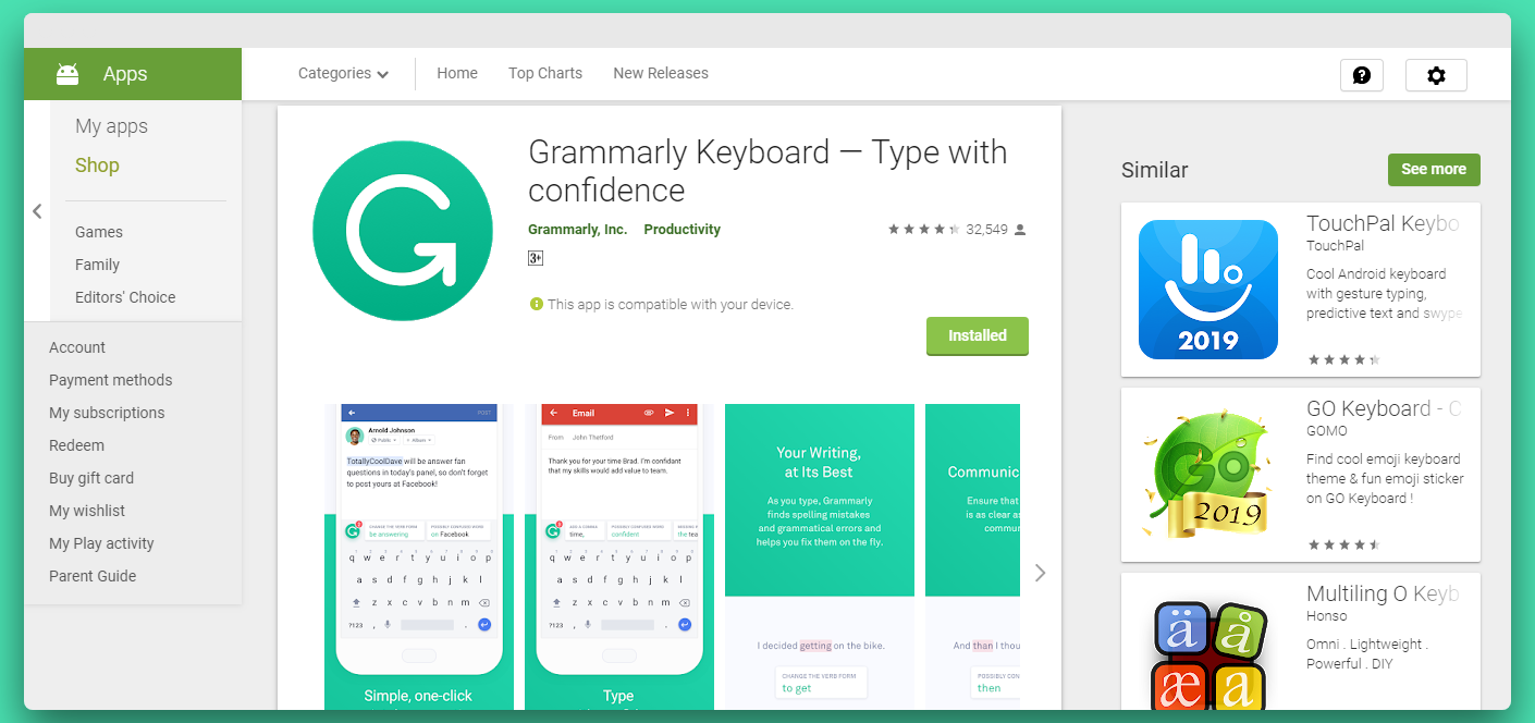 Grammarly-Android-app