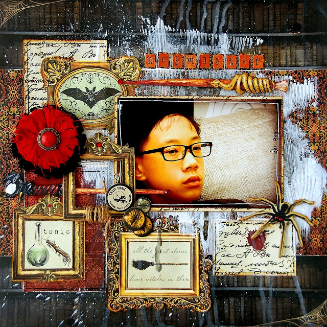 Webmaster Layout by Irene Tan using BoBunny Wonderfully Wicked collection