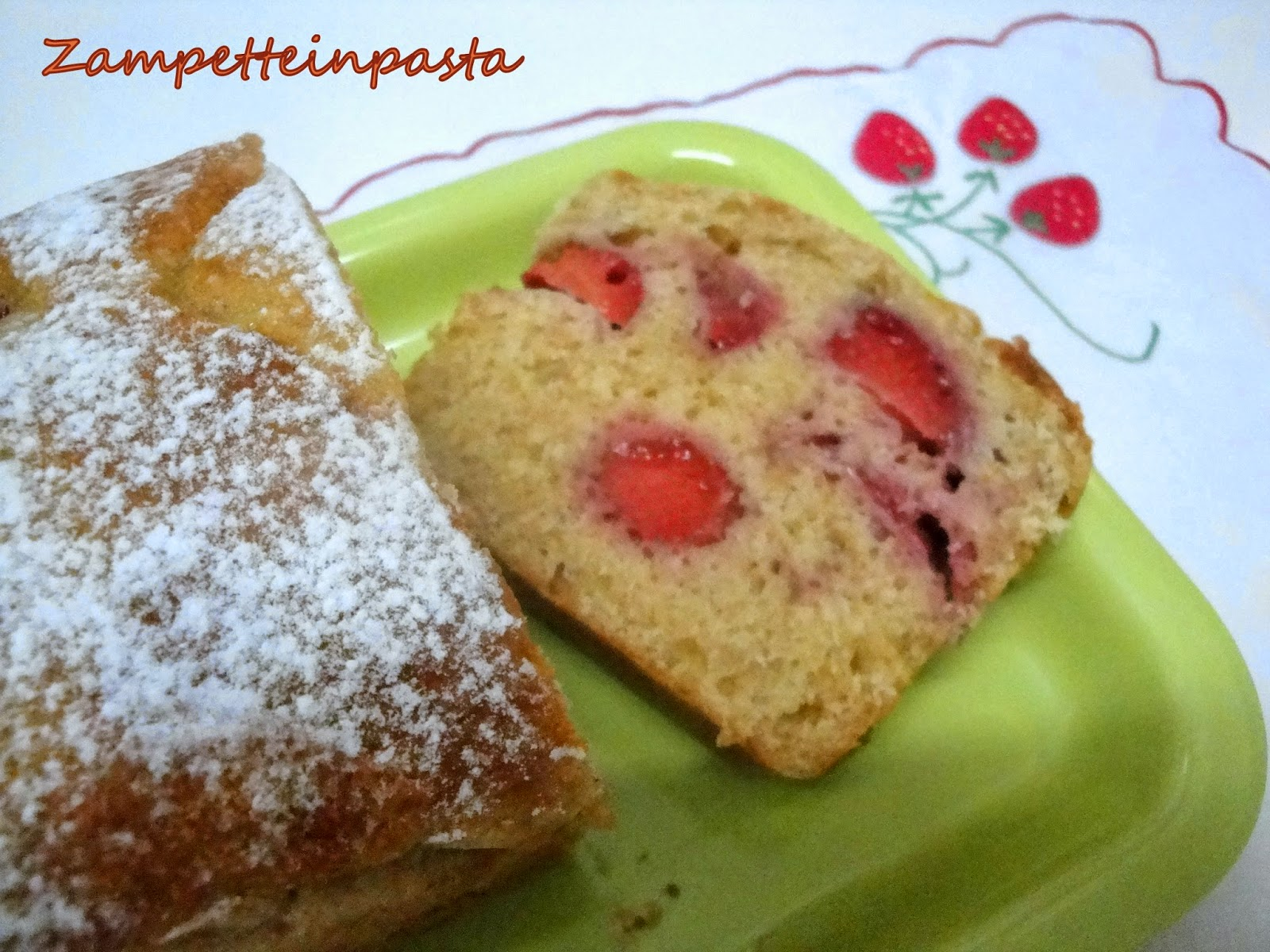 Plumcake con le fragole senza burro - Plumcake con fragole e limoncello