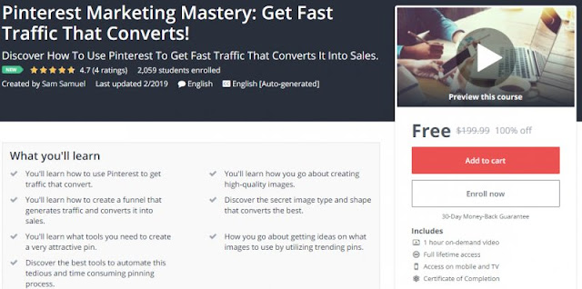 [100% Off] Pinterest Marketing Mastery: Get Fast Traffic That Converts!| Worth 199,99$