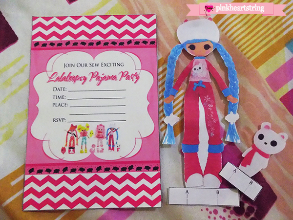 Lalaloopsy Pajama Party Invitation and Paperdolls
