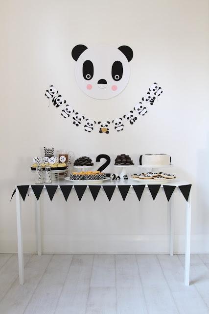 lastenjuhlat, panda, ideointi, inspiraatio, tarjoilu, koristelu, teemajuhlat,
