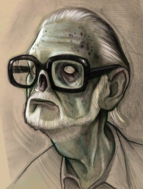 Caricatura Zombie di George A. Romero