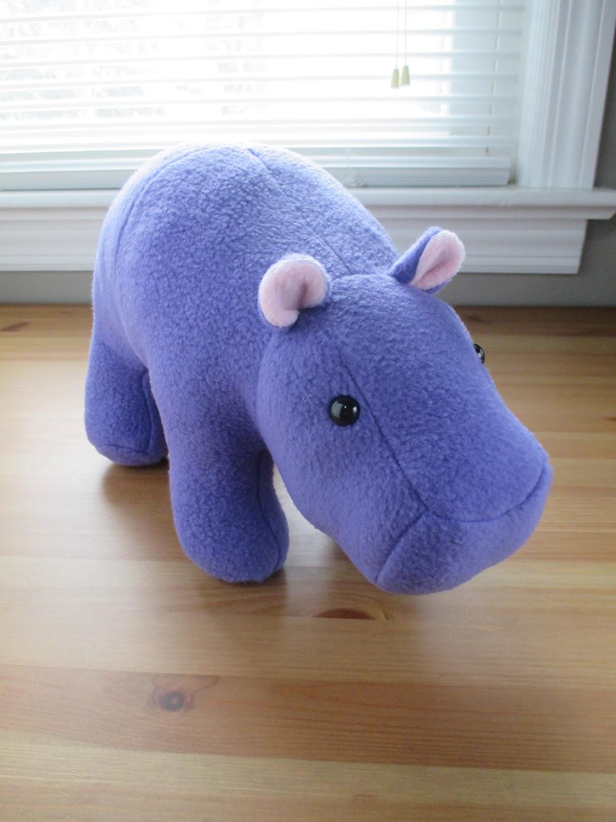 Fleece Menagerie Purple Hippo Sold