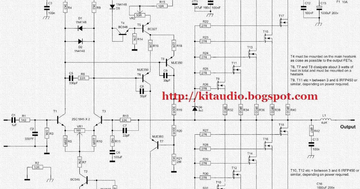 Audio kit: Actrk 400 / 600 Watt power amplifier with