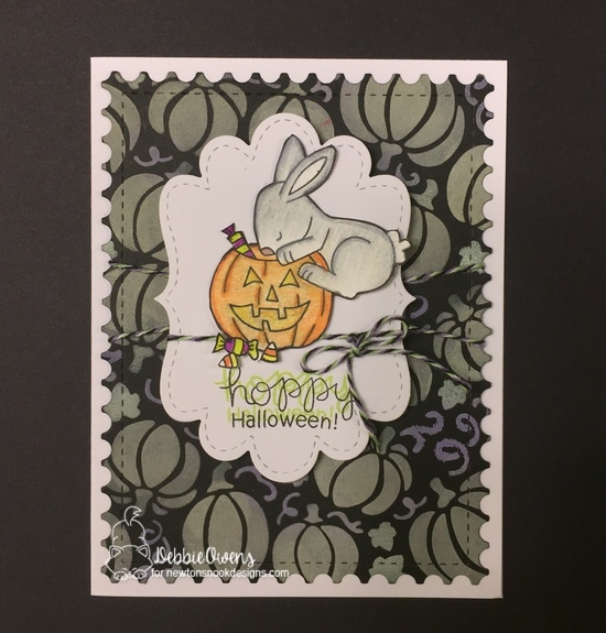 Hoppy Halloween by Debbie features Pumpkin Patch, Framework, and Hoppy Halloween by Newton's Nook Designs; #newtonsnook