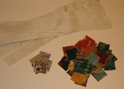 COUNTRY VILLAGE QAL, PART 4: Adding sashings and sewing it all together!