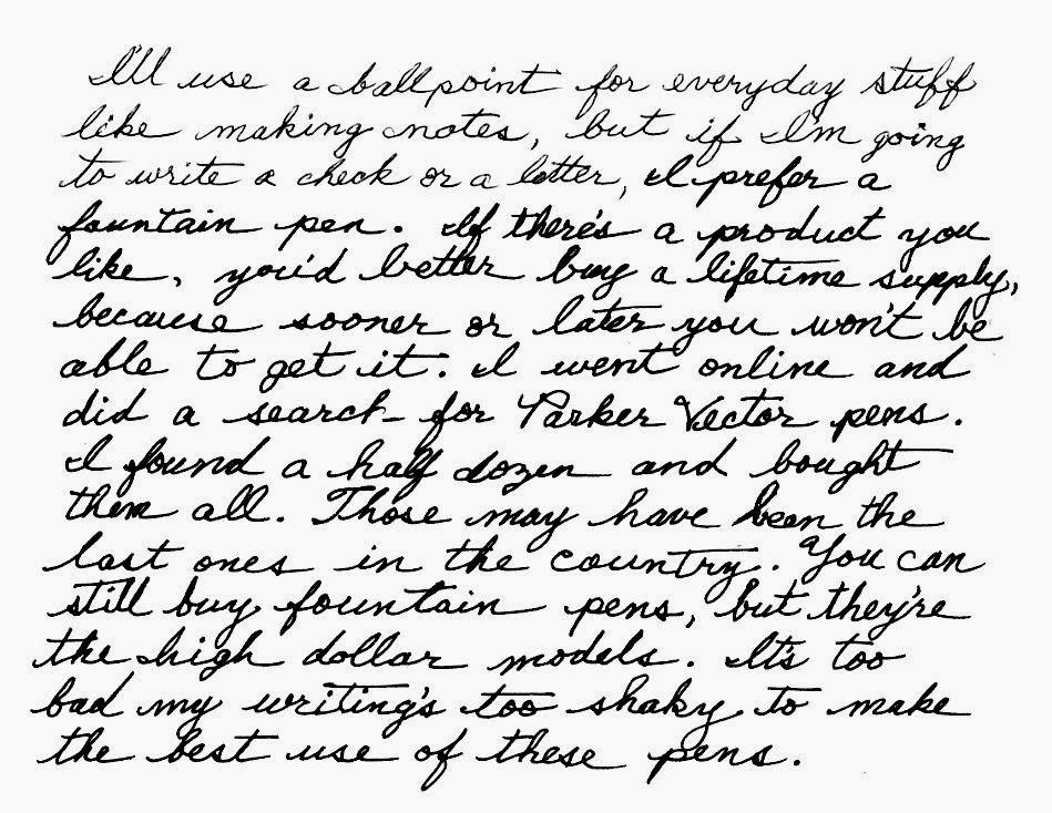 Palmer Handwriting Samples Hand Writing