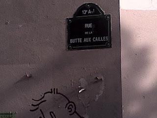 Arrivée sur la place principale.  Buttes-aux-Cailles.