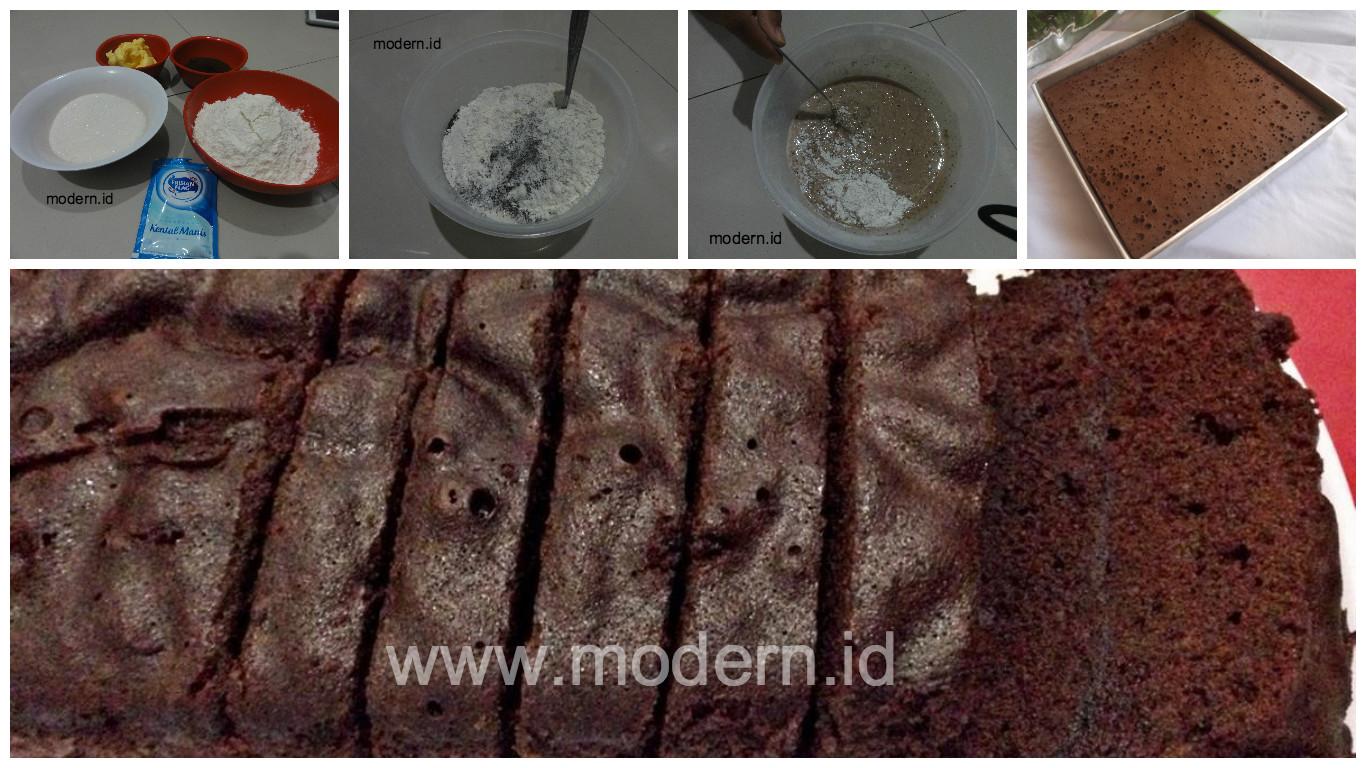 Resep Cake Kukus Modern: Resep Brownies Kukus Ekonomis. Cukup 15 Rb, Tanpa Telur