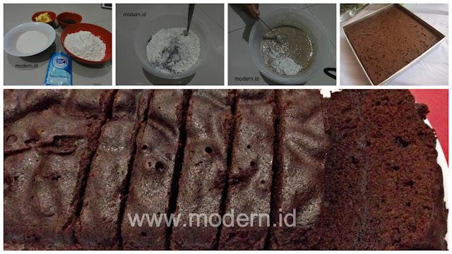 Resep Brownies Kukus Ekonomis. Cukup 15 rb, Tanpa Telur, Tanpa Mixer, Anti Gagal!!!