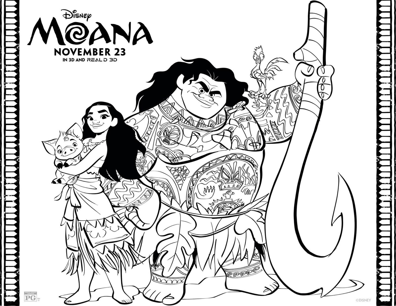 Excepcional Jogo Desenhos de Moana, princesa Disney para colorir, pintar  WI54