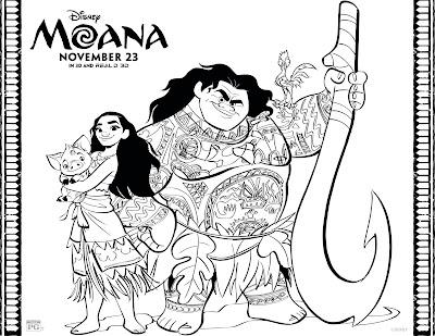 Desenhos de Moana, princesa Disney para colorir, pintar, imprimir! Desenhos de Moana e Maui