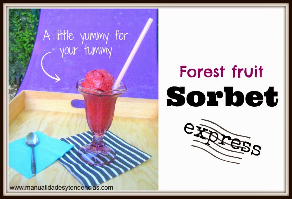 Forest fruit sorbet express