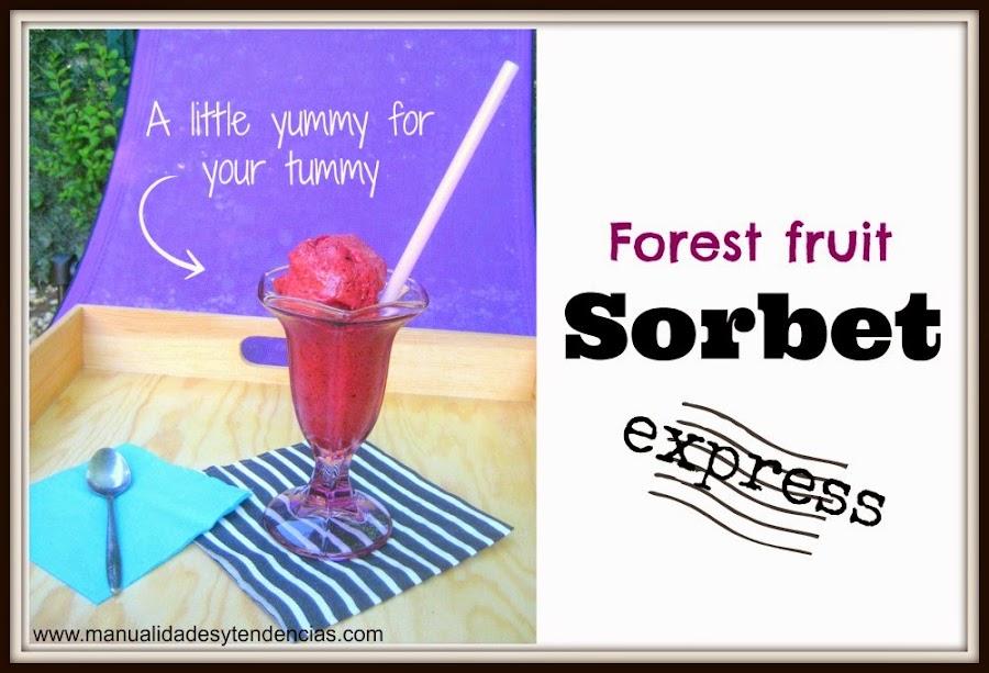 Forest fruit sorbet express