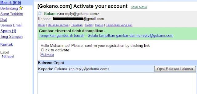Konfirmasi Gokano