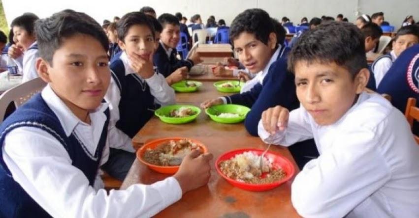 Cerca de mil colegios con Jornada Escolar Completa (JEC) recibirán desayuno y almuerzo de Qali Warma