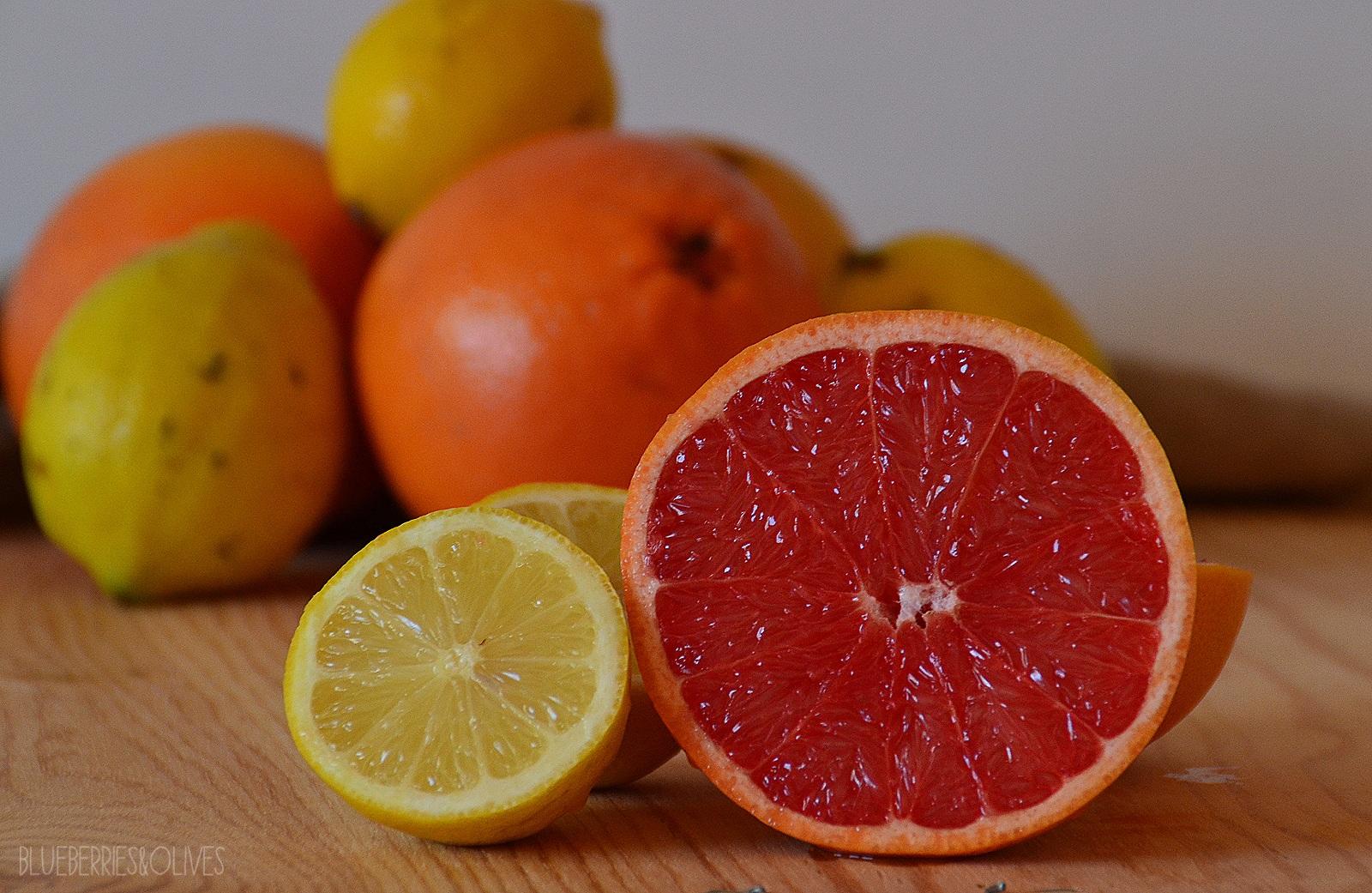 Ingredientes - Limonada de pomelo con burbujas 2