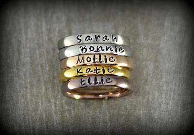 Personalized Stackable Rings $13 + $3 shipping