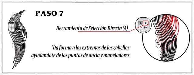 Tutorial en español de Adobe Illustrator para Crear Cabello Estilizado Paso 07