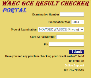 How To Check Your WAEC GCE Result 2018/2019  Online