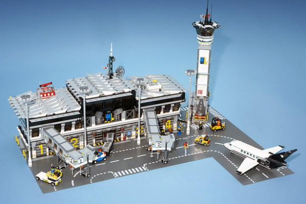 Tiles Or Studs A Lego Airport With Jet Bridges