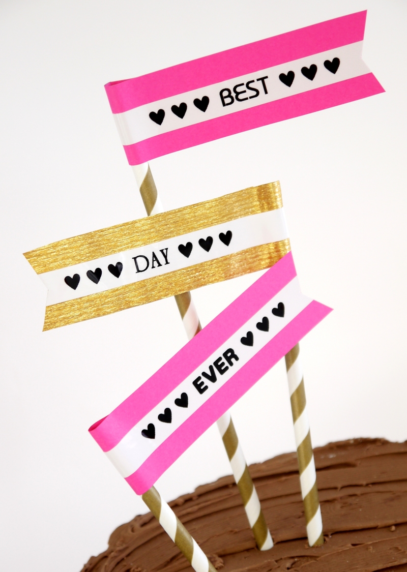 Pink & Gold DIY Birthday Party Decor