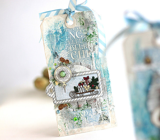 Frosty Christmas Tags by Elena Olinevich using BoBunny Tis The Season Collection