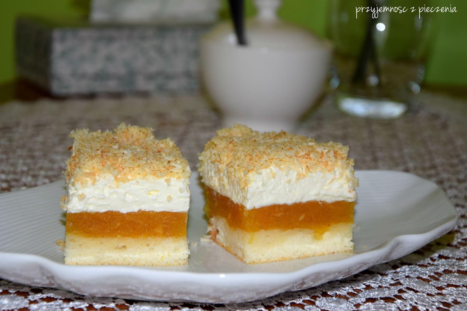Przyjemnosc Z Pieczenia Ciasto Z Jablkami Kremem Smietankowym I