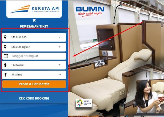 Form Pemesanan Tiket kereta api