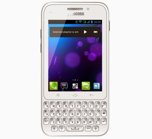 Evercoss A28S, HP Android QWERTY Murah Bisa BBM