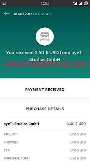 Bukti Pembayaran CashPirate via Paypal